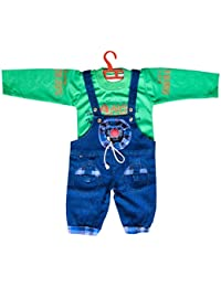0b3c7a920c1 Manraj collection Baby boy Baby Girl Full Sleeves Denim Dungaree with T- Shirt Hosiery Soft Cotton Dress with Soft…
