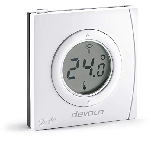 devolo Home Control Room Thermostat (Home Automation via iOS/Android App, Smart Home Device, Smart Heating Controls, Programmable Room Thermostat, wireless controlled, Z Wave) - White