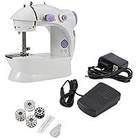 Máquina de coser, mini escritorio eléctrico multifuncional del hogar de la máquina de coser con la costura reversa delantera durable del LED