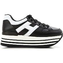 ... scarpe hogan donna. Hogan H283 Maxi H222 Sneakers Donna Allacciata Nera  H Grande Bianca 2030b765e84