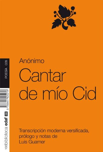 CANTAR DE MIO CID (Nueva Biblioteca Edaf nº 28) por ANONIMO