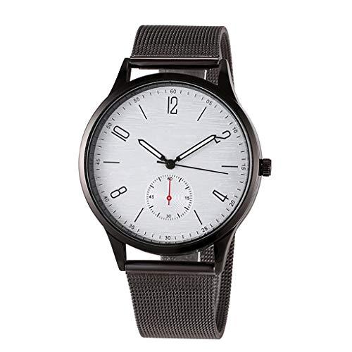 UINGKID Collection Unisex-Armbanduhr Modegeschäft unauffällig einfache Mesh Gürtelschnalle braune Quarz Armbanduhr - Mesh-dach