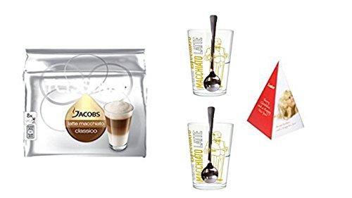 Tassimo Latte Macchiato + 2 Latte Macchiato Gläser + Edelstahllöffel von James Premium .jetzt mit...