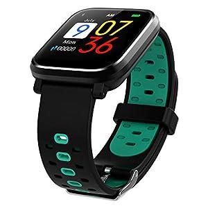 Dkings Fitness Tracker Wasserdichter Aktivitäts-Tracker mit Herzfrequenz-Blutdruckmessgerät, Farbbildschirm Smart-Armband mit Schlaf-Tracking-Kalorienzähler, für Kinder,Frauen Männ