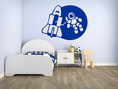 Preisvergleich Produktbild Wandtattoo Aufkleber - Astronaut Weltall - Raumfahrt - Kinderzimmer - W35
