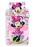 Disney - Parure da letto a tema Minnie, copripiumino