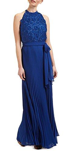Cordilia Metallic Lace Pleated Skirt Dress