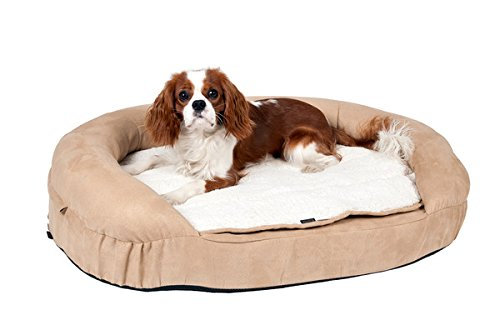 Karlie Orthopädisches Hundebett, 72 x 50 x 20 cm, oval, beige