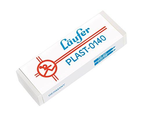 Läufer 00140 Plast 0140 Radierer, Radiergummi aus Kunststoff, für Bleistifte und Buntstifte, transparent