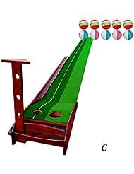WENZHE Alfombra De Práctica Golf Putting Estera Establecer Puede Volver A La Pelota Pendiente Madera Maciza Tipo De Casa 3.5 * 0.3 M / 3 * 0.3 M ( Color : 3.5*0.3m#3 )