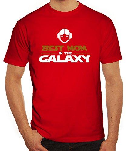 Geschenkidee Herren T-Shirt mit Best Mom In The Galaxy Motiv von ShirtStreet Rot