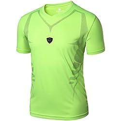 Hombre Deportes Camisetas❤️LILICAT® Blusa Tops de Compresión de Entrenamiento Fitness,Gimnasio,Correr, Yoga Camisetas de Tirantes Gym Hombre (XL, Verde)