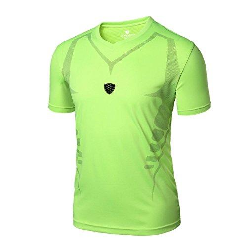 LILICAT Hombre Deportes Camisetas Blusa Tops de Compresión de Entrenamiento Fitness,Gimnasio,Correr, Yoga Camisetas de Tirantes Gym Hombre (XL,  Verde)