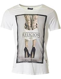 Religion Homme Them Pull Down T-shirt ras du cou, Blanc