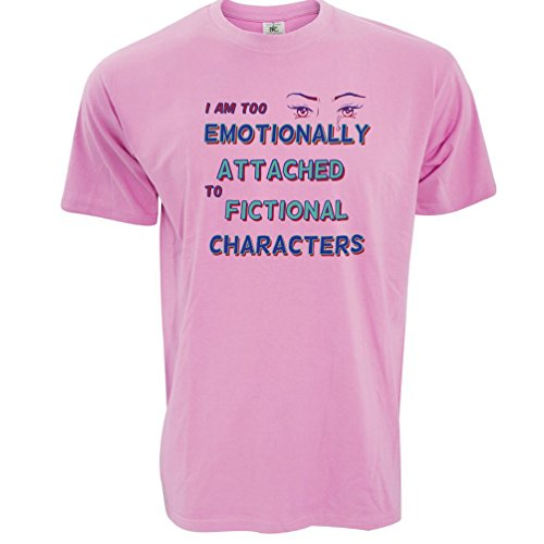 Zu emotional Fiktive Charaktere angebaute Herren T-Shirt Pixel Pink