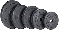 Active Fitness Spare Weight Lifting Plates 20 Kgs (5 Kg X 4) (Black)