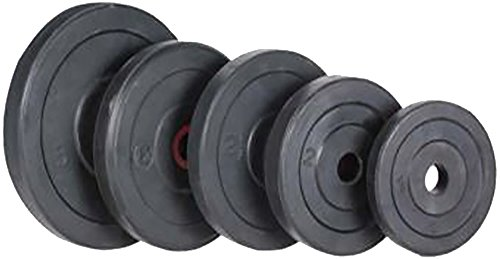 Protoner Spare Weight Lifting Plates 20 Kgs (5 Kg X 4) (Black)