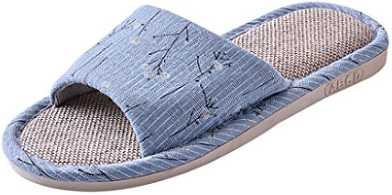 Vdual Damen Herren Hausschuhe plüsch Memory Foam Waschbare Frottee Slipper Rutsche Indoor Pantoffeln