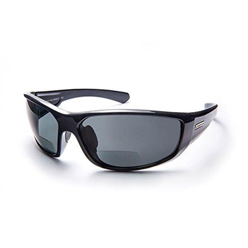 Urbanium Eyewear Sonnenbrille mit Sehstärke Modell Rio im sportlichen Look mit polarisierten Gläsern in schwarz mit Addition +2.50