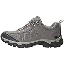 Mountain Warehouse Zapatillas Skyline para mujer - Empeine en material sintético, botas con agarre firme para mujer, forro de malla, banda de refuerzo en puntera y talón