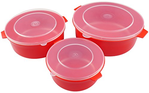 good2heat Microwave Set of 3 Dishes - Red