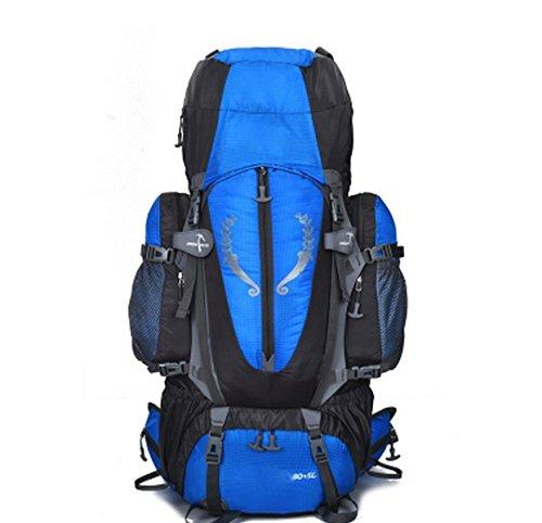 Wasserdicht Outdoor Sport Wandern Trekking Camping Reisen Rucksack Pack Bergsteigen Klettern Rucksack,Black Sapphireblue