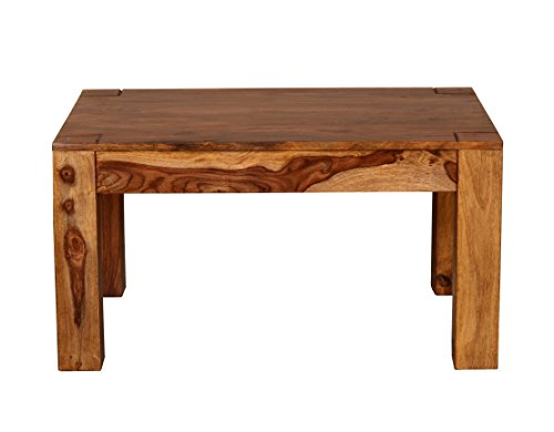 Ringabell Modern Solid Wood Coffee Table (Teak Finish, Brown)