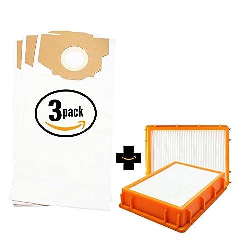 9 Replacement Eureka 4870F Vacuum Bags & 2 HEPA Filter