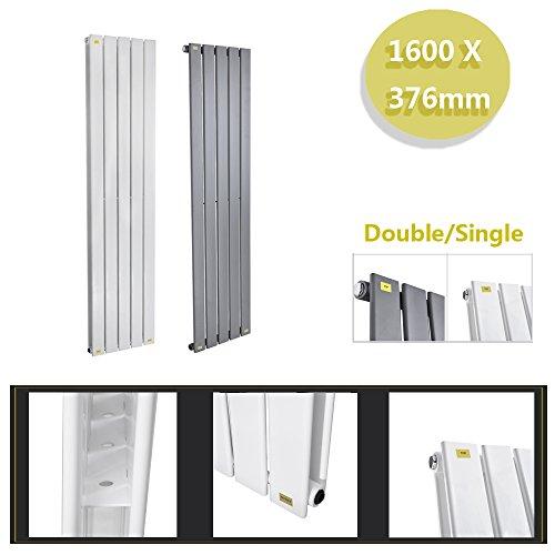 Anaelle Pandamoto Radiateur Vertical Design Vitality Blanc en Acier haut de gamme 1600*376 Single Chauffage Central Chaude, Anthracite
