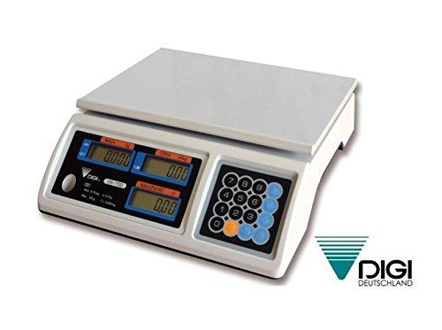Ladenwaage DIGI DS-700 6kg 2g Waage Marktwaage geeicht bis Ende 2017 Tisschwaage