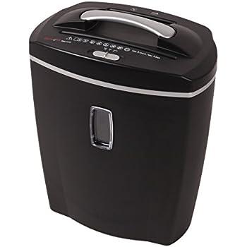 Genie 580 XCD Aktenvernichter, bis zu 10 Blatt, Partikelschnitt (Sicherheitsstufe P-4), mit CD - Shredder, inkl. Papierkorb, schwarz