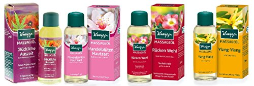 Kneipp Set 4x Massageöl Geschenkset Massageöle 4x100ml