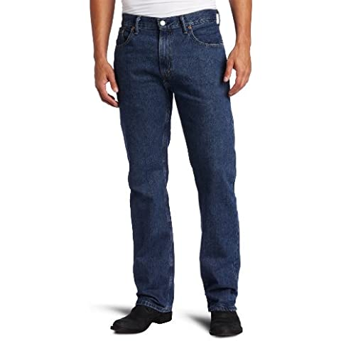 Levi's Men's 505 Straight Fit Jeans Stonewash scuro, castello, 29