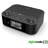 Majority Fulbourn II DAB+ DAB Digital Radio, FM Radio, Bluetooth Wireless, Dual Alarm Clock - Dual USB Charging (Black)