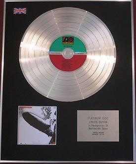 Zeppelin Led Wandtattoo (LED ZEPPELIN–Platin CD disc- LED ZEPPELIN)