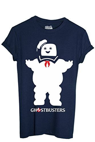 T-Shirt STAY PUFT GHOSTBUSTERS - FILM by MUSH Dress Your Style - Uomo-S-BLU NAVY