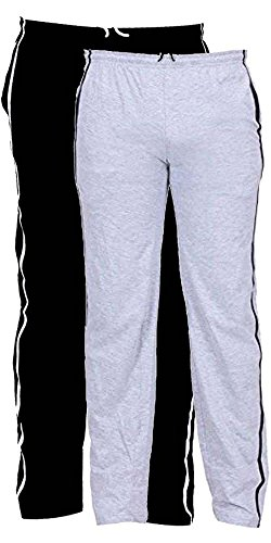 LGRL Men's Track Pants Combo Pack Of 2 (ZBLACK_GREY)