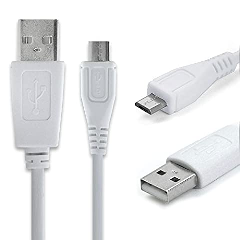 CELLONIC® Câble de données USB (0,95m) pour Nikon 1 J4, Keymission 170, D7500, D5600, D3400, CoolPix S9900, W100, B700, AW130, DL24-500 (Micro USB vers USB A (Standard USB)) Câble Data USB blanc
