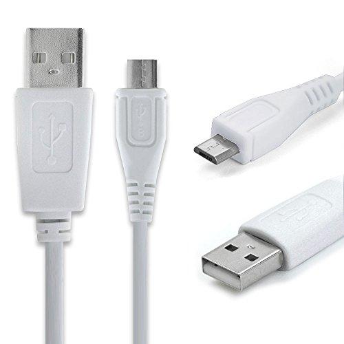 Preisvergleich Produktbild CELLONIC® USB Kabel (1m 1A) kompatibel mit Gigaset GS270 / GS270 Plus / GS185 / GS180 / GS170 / GS160 / GS100 (Micro USB auf USB A (Standard USB)) Datenkabel Ladekabel weiß