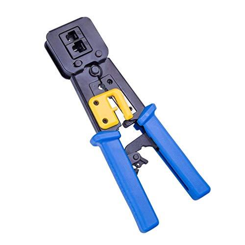 Rj45 crimp strumento ethernet crimpatrice cutter crimping cable stripper lame stripping per ez end pass attraverso rj45 rj12