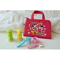 Iwako 2 colori buca delle lettere e 2 colori spazzolino da denti in tazza giapponesi gomme da cancellare con Red Zipper Bag
