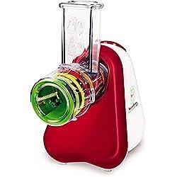 Moulinex DJ755G Fresh Express + Hachoir multifonctionnel avec 5 accessoires et un grand tube d'alimentation