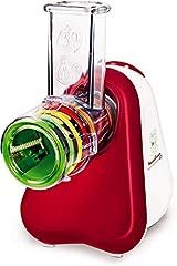Idea Regalo - Moulinex DJ755G Fresh Express+ Tritatutto Multifunzione con 5 Accessori e Ampio Tubo di Alimentazione, L'Ideale per le tue Verdure