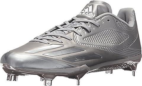 adidas Adizero Afterburner 3 E Cleat Men's Baseball 9.5 Light Onix-White