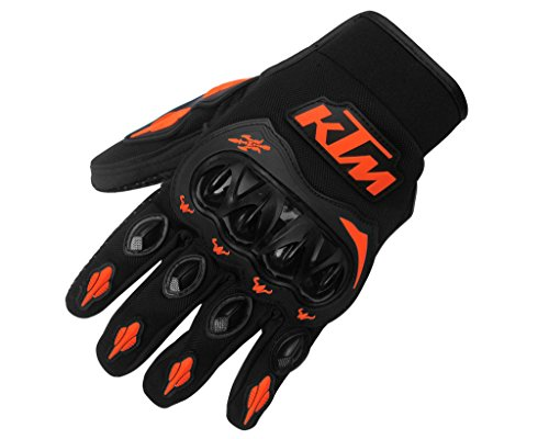 Auto Pearl Premium Quality Bike Racing/Riding Hand Grip Glove KTM Medium (1 Pair Set of 2 pcs. ) For All Bikes.  available at amazon for Rs.799