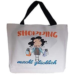 """Einkaufs-Tasche, Shopping-Bag """"Shopping macht glücklich"""""""