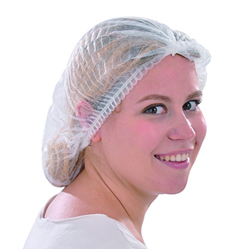 Raytex Einweg-Vlies Mop Cap mit elastischem Band, staubdicht und hygienisch, für Salon, Schönheit, Lebensmitteldienst, Krankenhäuser, Labor, Herstellung (Elektronische Krankenschwester)