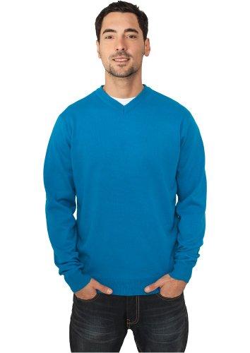Preisvergleich Produktbild Urban Classics Herren Sweatshirt Knitted V-Neck - Regular Fit, Größe:XXL;Farbe:turquoise