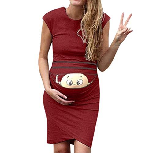 Banaa premaman abbigliamento casual vestito donna gravidanza eleganti estivi vestiti stampa semplice allattamento premaman maniche corte abito photograph divertenti abiti lunghi dress slim fit