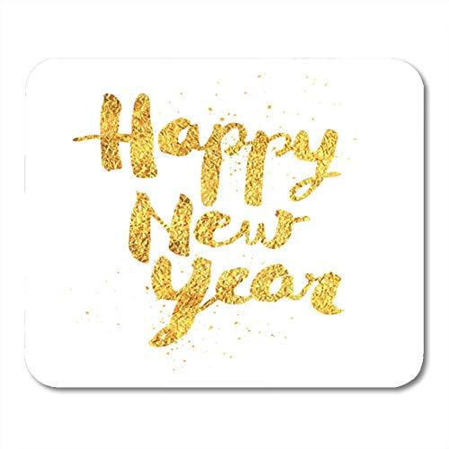 Luancrop Mauspad Yellow Eve Frohes Neues Jahr Gold No Mesh Countdown Mousepad für Notebooks, Desktop-Computer Mauspads, Bürobedarf -